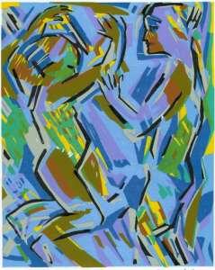 Kinderfreuden, Farblinolschnitt, 20 x 26,5 cm, 2009