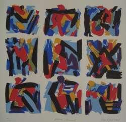 Ohne Titel, Farblinolschnitt, 2007