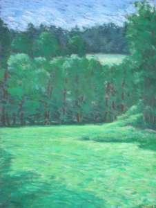 Wiese mit Erlen, 80 x 61 cm