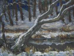 Winter am Bach, 81 x 61 cm