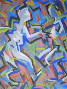 Begegnung, Acryl auf Leinwand, 60 x 45 cm 2010