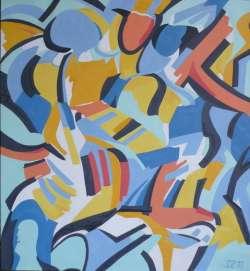 Jazz, Öl auf Nessel, 92 x 100 cm