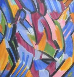 Reiter, Öl auf Leinwand, 121 x 114 cm, 2006